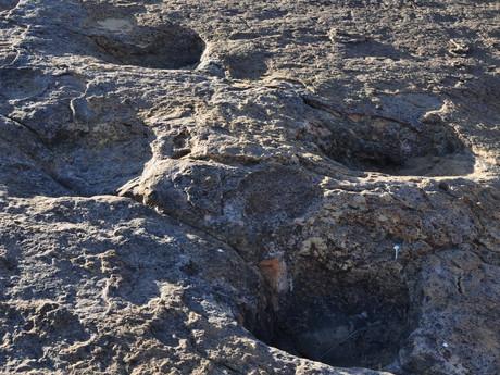 dinosauří stopy za vesnicí