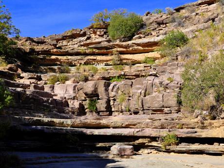 vodopád v období sucha – národný park Torotoro