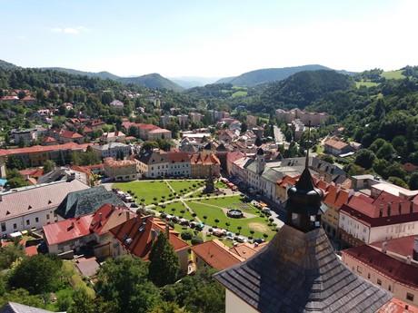 výhled z věže Městského hradu