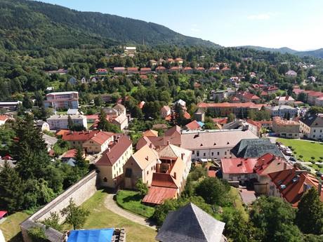 Kremnica - výhled z věže Městského hradu