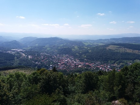 the vista over Kremnica