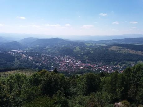 the vista over Kremnica