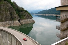 Transfagarasan – přehrada Vidraru