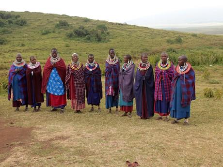 masajské ženy