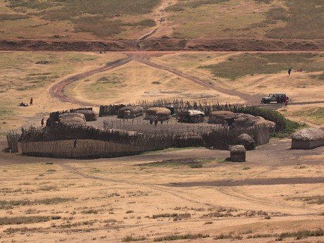 masajská vesnice