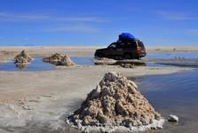 těžba soli u města Colchani