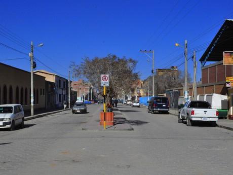 ulice ve městě Uyuni