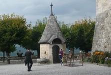 nádvoří hradu v Gruyéres