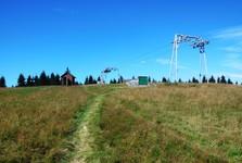Vasilovská hole, pohled na rekreační středisko
