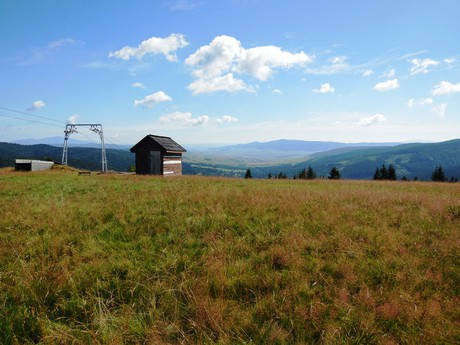 Vasiľovská hoľa, pohľad na oravskú krajinu