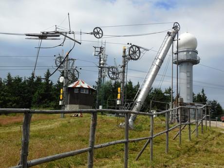 Kubínská hole, meteorologický radar a lyžařský vlek