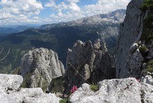 the view over the landscape around Dachstein