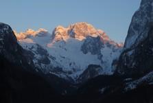 západ slunce s Dachsteinem