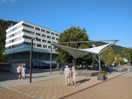 Trenčianské Teplice – pedestrian zone (pódium)