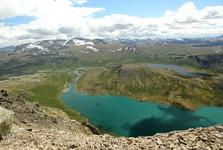 krásny pohľad na jazerá