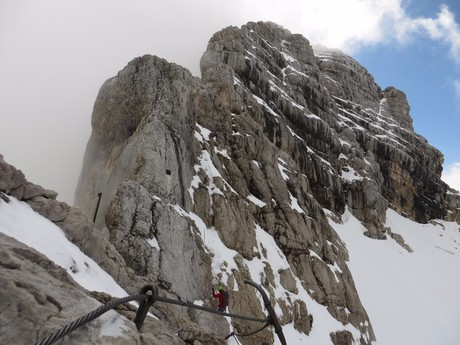 climbing up Hoher Dachstein  from the east