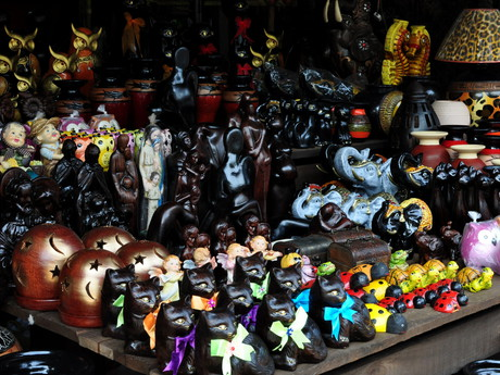 ukázka keramiky v obci Areguá