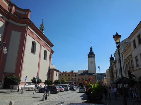 the center (observation tower and the Old Town hall)