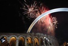 New Year's celebrations in downtown Verona