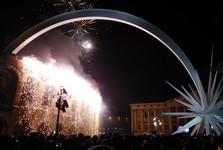 празднование Нового года в центре Вероны