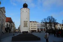Dicker Turm перед площадью Obermarkt, Görlitz