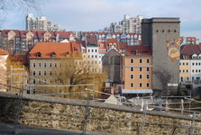 výhled na polskou část od kostela sv. Petra a Pavla, Görlitz