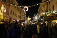 рождественские ярмарки после наступления темноты, Бауцен