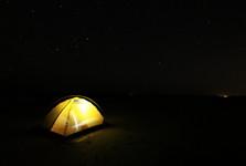 noc v kazašské poušti