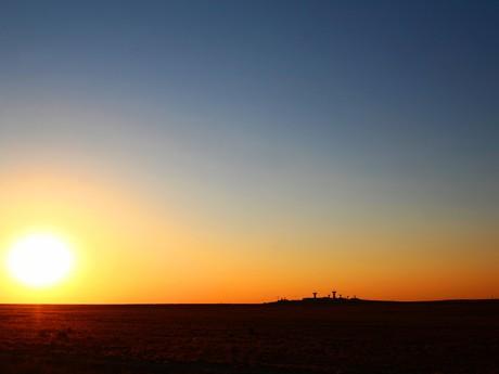 sundown at Baikonur
