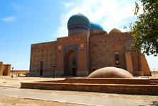 a mausoleum in Turkestan
