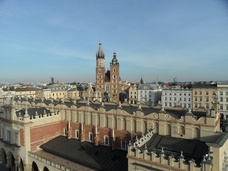 the view over Krakow