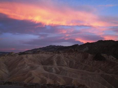 sunset watching, Zabriskie point
