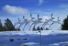 vianočná atmosféra na letisku v Rovaniemi