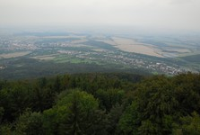 the vista from the stone observation tower on Hostyn