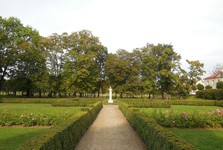french park (a Frantisek Xaver Richter bust)