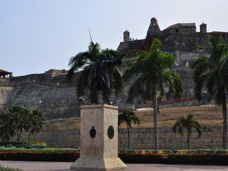 pevnost Castillo de San Felipe de Barajas