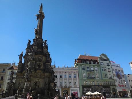 Olomouc - čestný stĺp Najsvätejšej Trojice