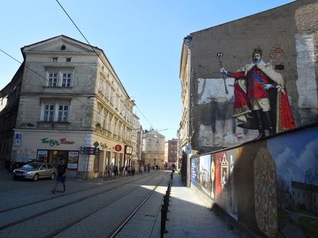 Olomouc - King Eduard mural