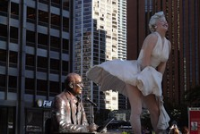 Marilyn Monroe is an amazing statue on Michigan Avenue
