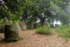 nádoby sú rozmiestnené na 20 miestach okolo Phonsavanu