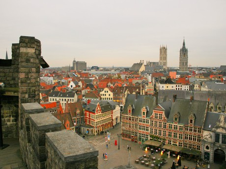 Gent - the view from the castle