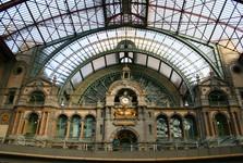 Antverpy - vlaková stanica z vnútra