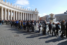 St Peter's square, crazy lines
