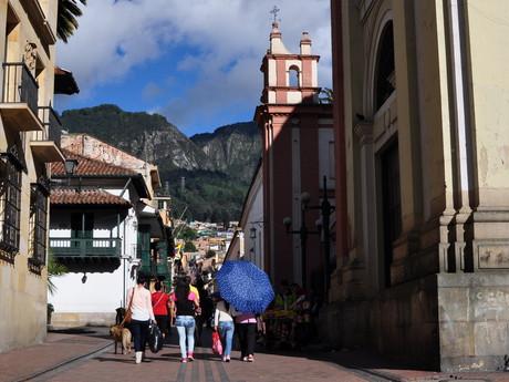 ulička v Bogote