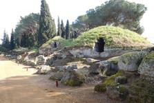 etruská mohylová nekropole Banditaccia