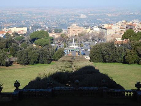 pohled na Frascati z Villa Aldobrandini