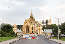 vstup do Shwe Dagon Pagody
