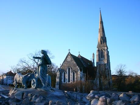 Kodaň - kostel u kasáren