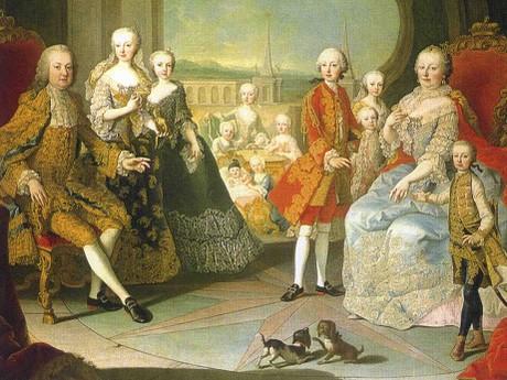 dobové vyobrazení Marie Terezie s rodinou - (c) SKB
