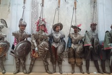 traditional puppets representing knights